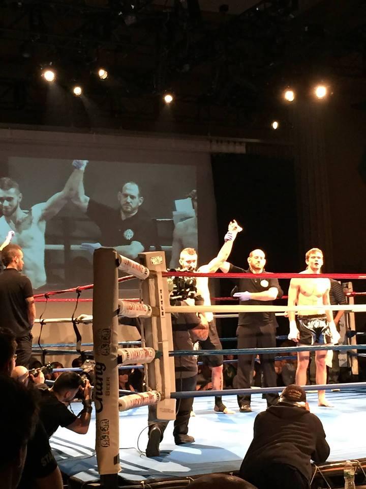 """AMAA's Johny """"Love"""" Pina wins his New York City Muay Thai Fight"""