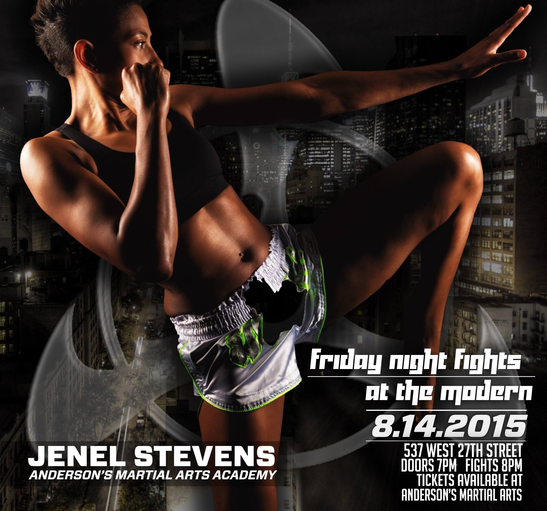 Anderson's Martial Arts NYC's Own Jenel Stevens Fights For The Muay Thai Belt