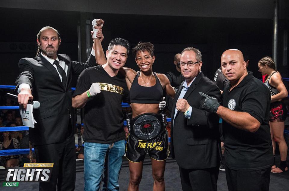 Anderson's Martial Arts Own Jenel Stevens Wins Her New York State WKA Muay Thai Title Belt