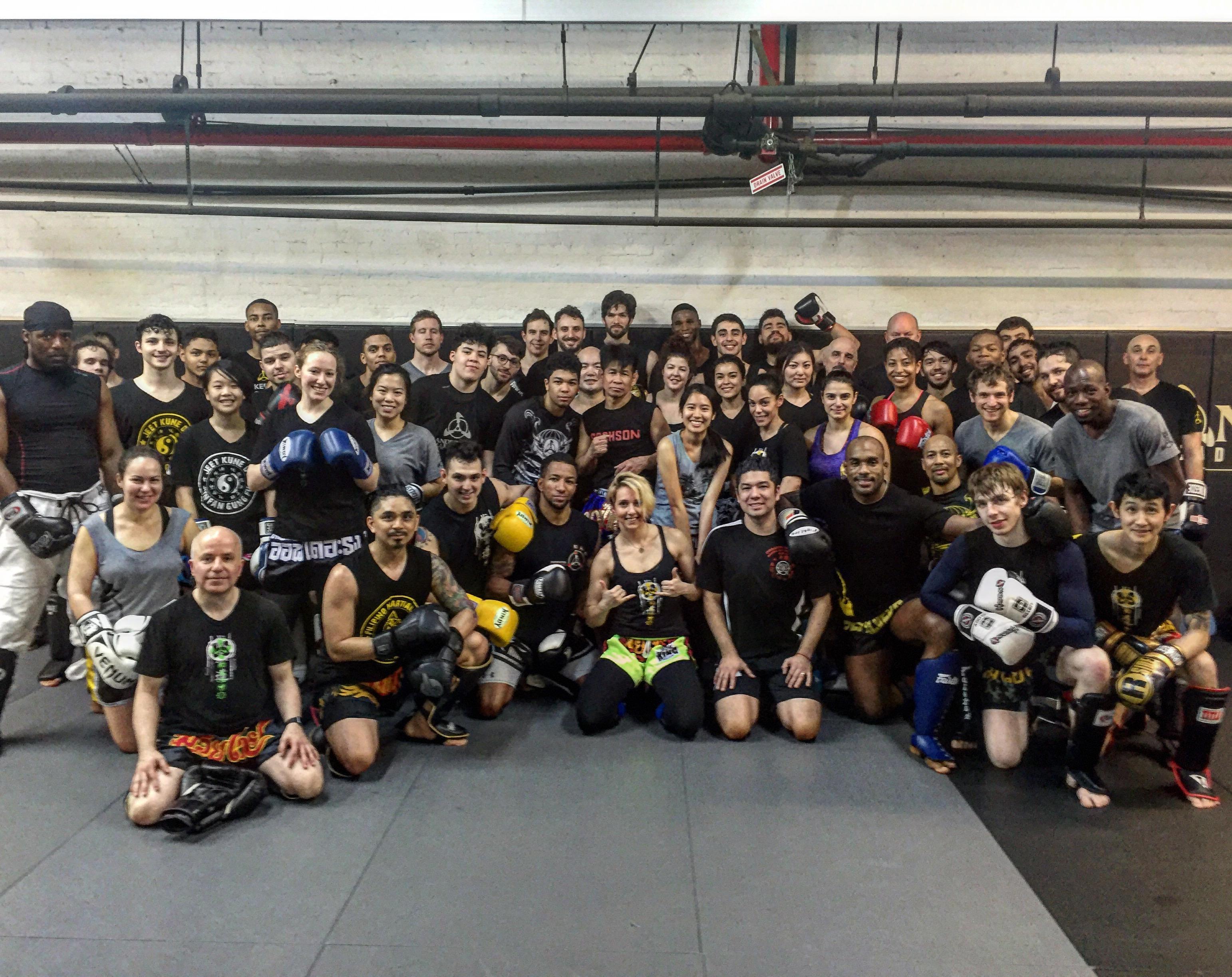 7X Work Champion Saekson Janjira Does A Free Muay Thai Workshop At Andersons Martial Arts NYC