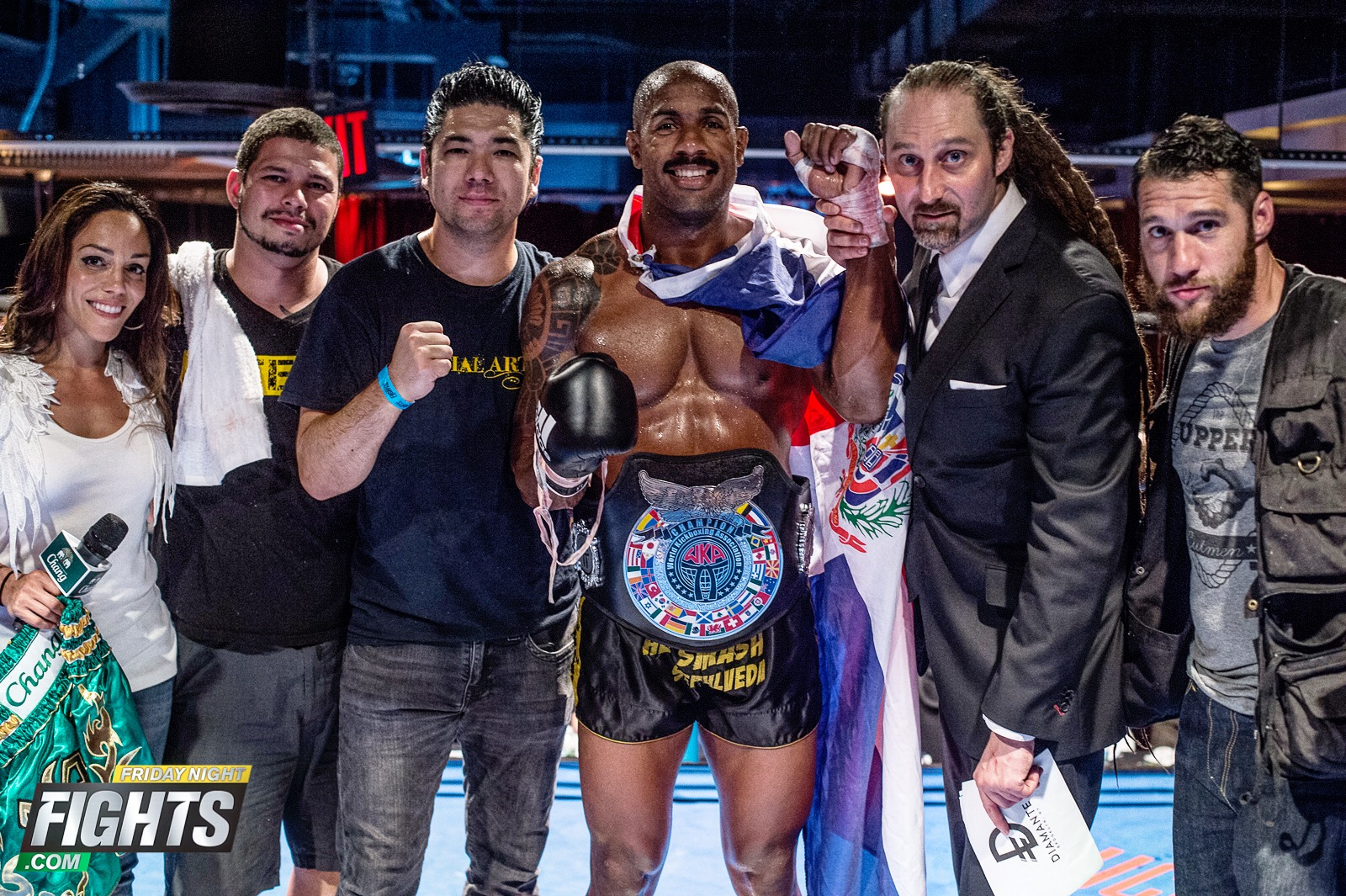 Andersons Martial Arts NYC's Ariel Sepleuda Wins the North American Muay Thai Pro-Title Belt!